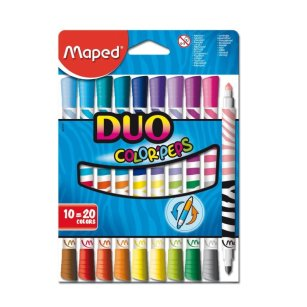 Flamastry dwustronne Maped Color'Peps DUO 10 sztuk