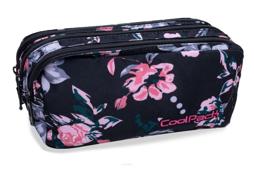 3e77757aa5182 Trzykomorowa saszetka piórnik szkolny Coolpack Primus Dark Romance B60020