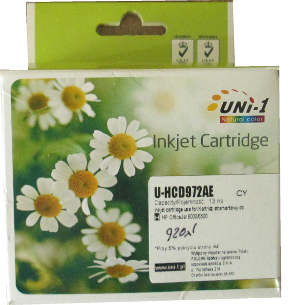UNI-1 Tusz do HP 920XL CYAN CD972