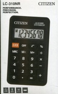 Kalkulator Citizen LC-310 NR Czarny