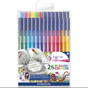 Flamastry Staedtler Brilant Colours 26 szt.