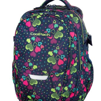 Plecak CoolPack Factor XL Lime Hearts B02010